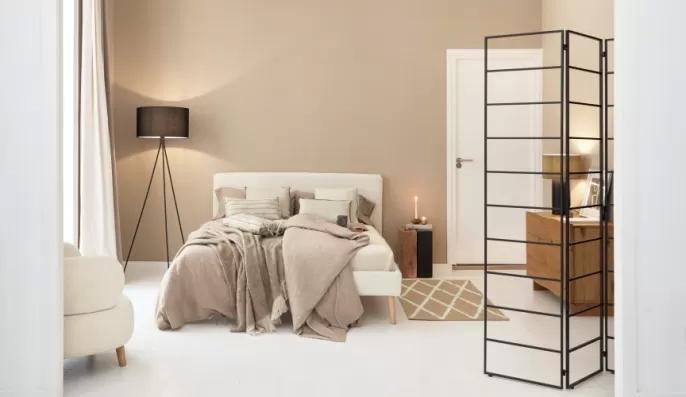 sypialnia w stylu japadni