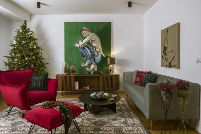 dekoracja salonu na boże narodzenie