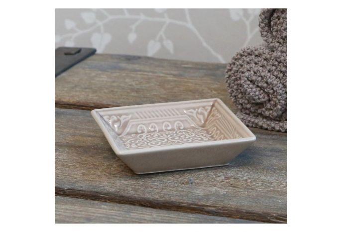 Ceramiczna mydelniczka beżowa