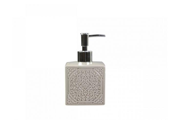Ceramiczny dozownik do mydła beżowy
