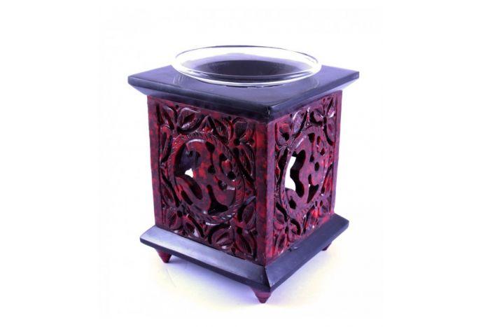 Czerwony kominek do olejków eterycznych/ Świecznik zapachowy