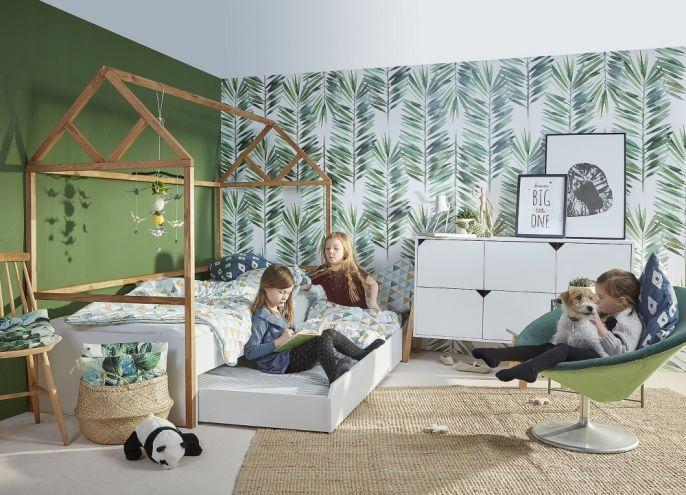 łóżko dziecięce z pojemnikiem na pościel