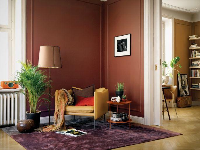 ciemny kolor ścian do drewnianej podłogi