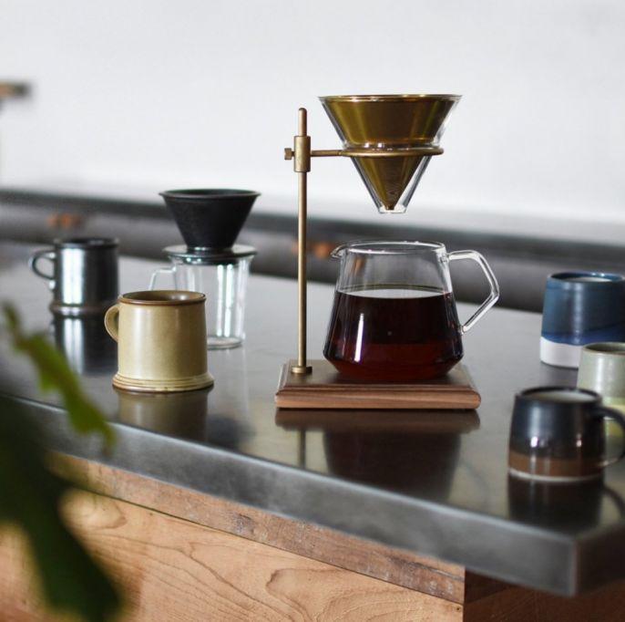 Zaparzacz do kawy slow coffee style z karafką i podstawką, Kinto, fabrykaform.pl