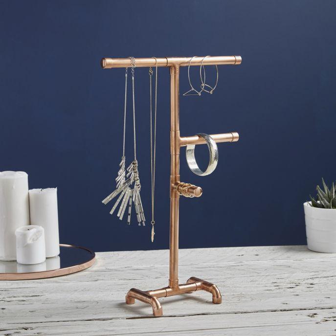 Miedziany stojak na biżuterię, limelace.co.uk