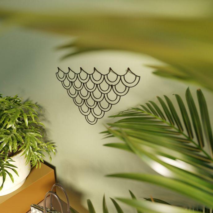 polyhedra wieszak ścienny metalowy