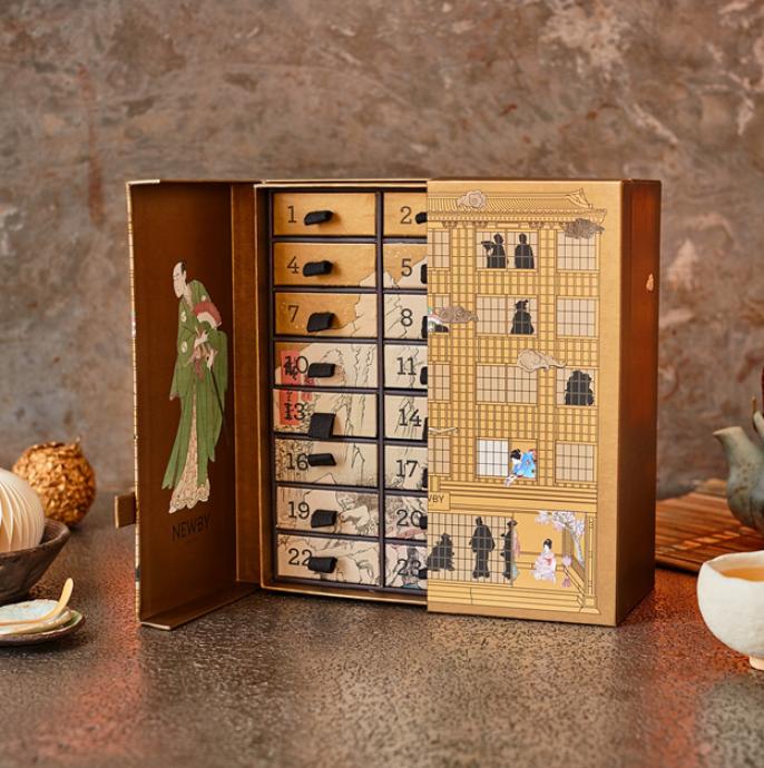 Kalendarz adwentowy: zestaw herbat i naparów w saszetkach, Newby Teas, newbyteas.pl