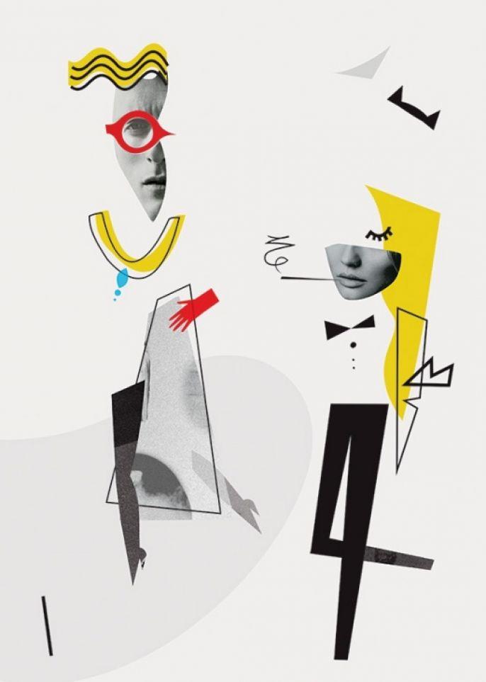 """Plakat """"Gender fashion"""" Magdaleny Pilaczyńskiej"""