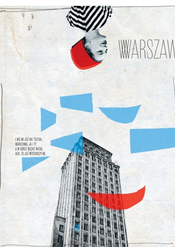 """Plakat """"Warszawa"""" Magdaleny Pilaczyńskiej"""