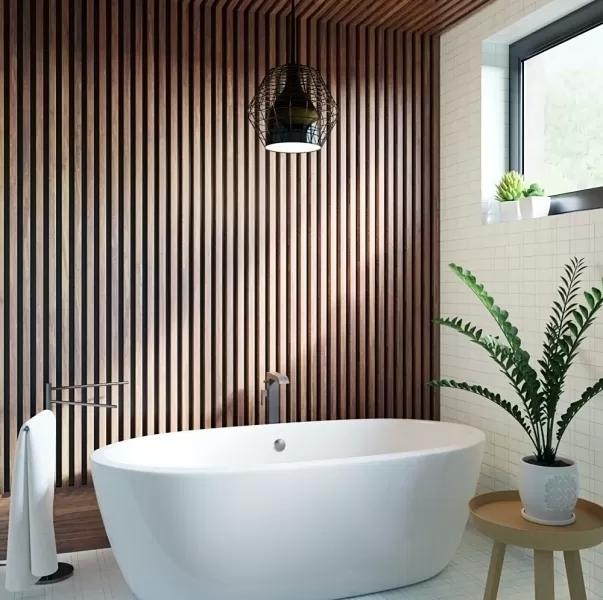 drewno bambusowe we wnętrzu