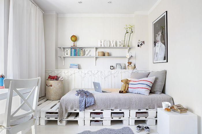 Biała sypialnia - inspiracje, fot. Jola Skóra