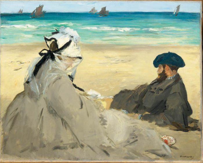 Edouard Manet, Na plaży , 1873 r. Narodziny nowoczesności