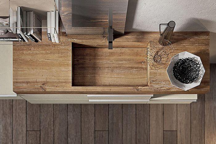 GIUNONE, umywalka ze starzonego, impregnowanego drewna, EDONÉ DESIGN, edonedesign.it