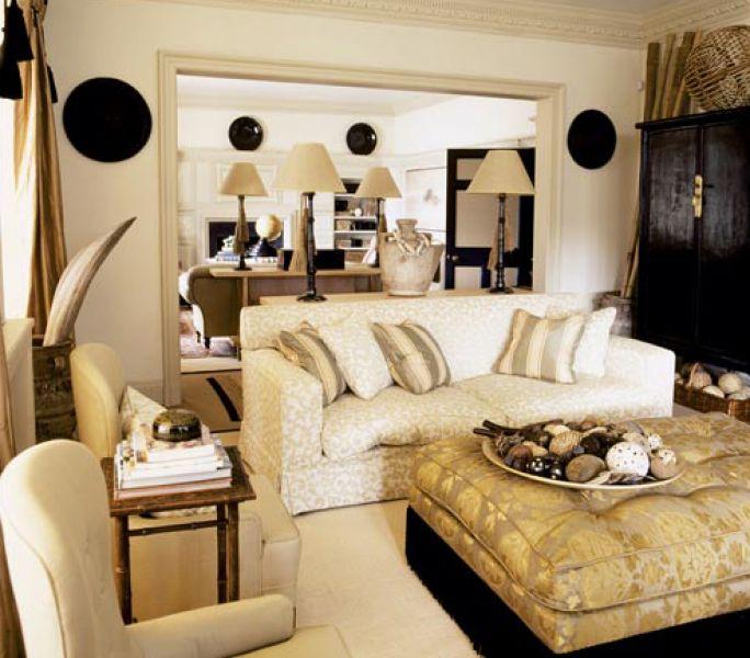 Dom w stylu kolonialnym - salon
