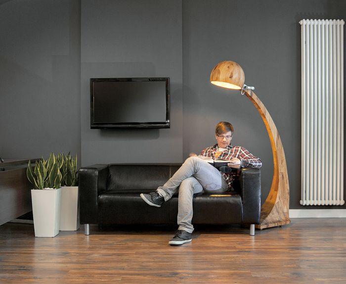 dizajnerskie lampy drewniane