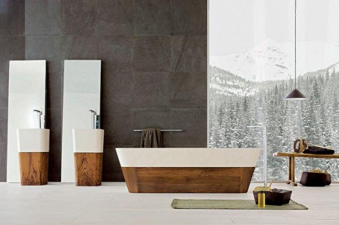 Łazienka zaprojektowana przez Matteo Thuna.