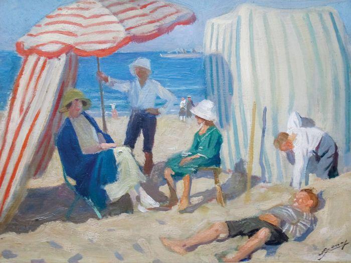 Lucien Hector Jonas, Na plaży , 1920 r.