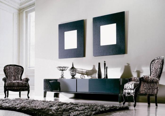 Lustra z kolekcji Helios firmy Interi. Wymiary: 100 x 100 cm, ramy szklane. Cena - 2600 zł/szt. HEBAN
