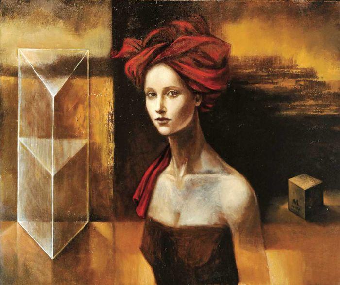 Czerwony turban. Sztuka: Kobiety tajemne