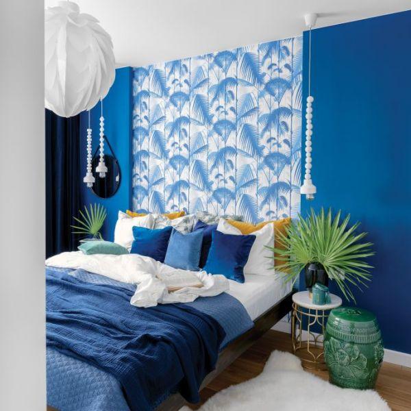 niebieskie ściany w mieszkaniu