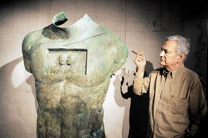 Okruchy antyku Igora Mitoraja. Igor mitoraj, atelier, rzeźba, marmur, sztuka, rzeźby