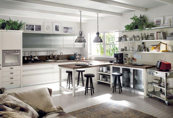 aranżacja wnętrza biała kuchnia