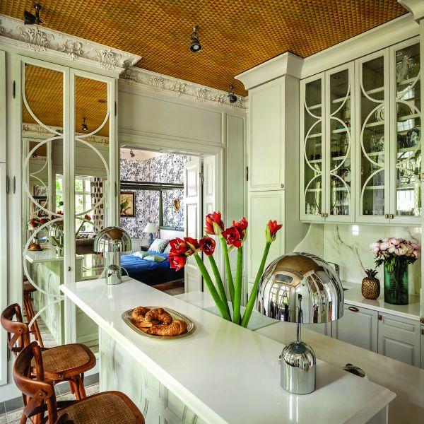 stylowy apartament kuchnia