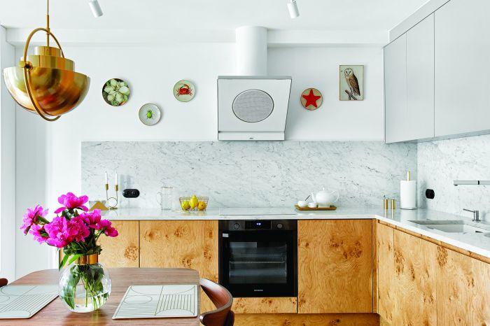 kuchnia w stylu retro i nowoczesnym