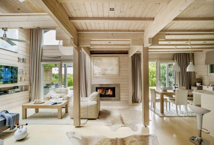 W tym domu świetnie się wypoczywa. To dzięki stonowanym kolorom i naturalnym materiałom.