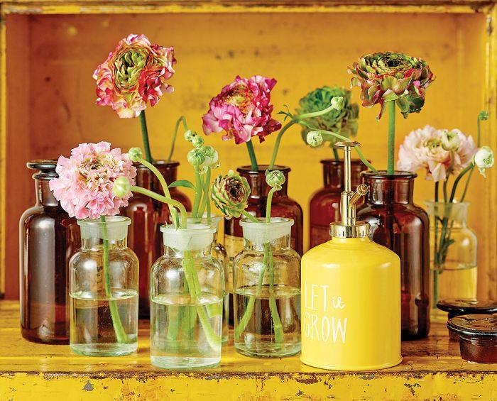 Róże, jaskry, hortensje: bukiety jak malowane