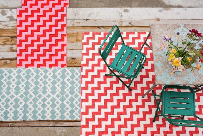 Wzorzyste dywany na balkon i taras