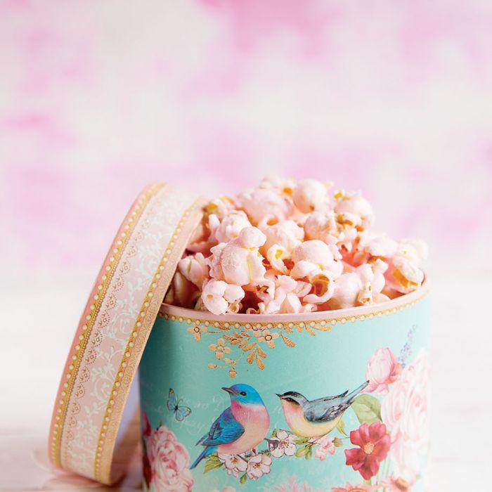 Popcorn o smaku różanym