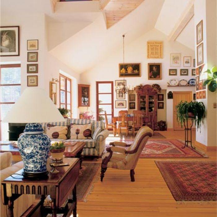 stylowe wnętrze salon dodatki