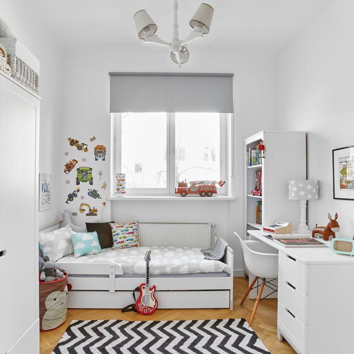 stylowe wnętrze minimalizm pokój białe meble