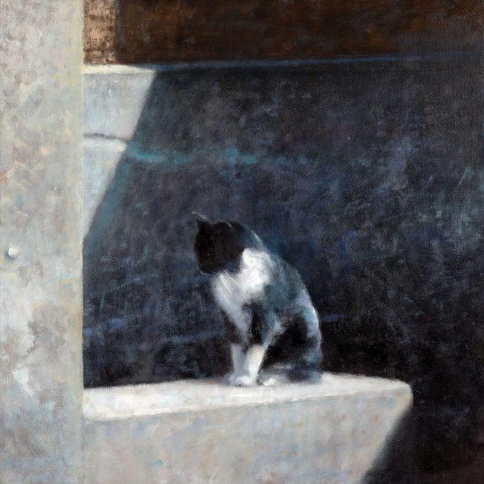 Obraz bez tytułu. Piotr Pilawa: kocie zaułki