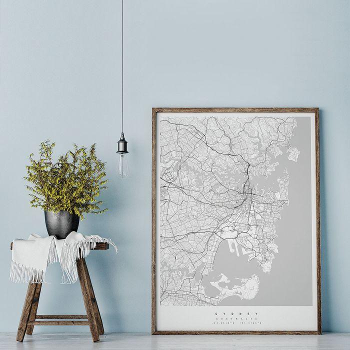 Mapa może być artystyczną grafiką - pięknie prezentuje się we wnętrzu.
