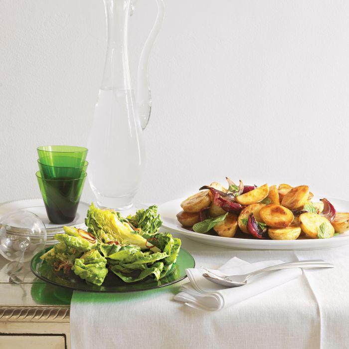Sałatka z ziemniaków i mięty - prosty przepis