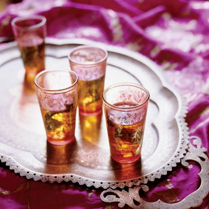 Szklanki w sam raz na marokańską miętową herbatę.