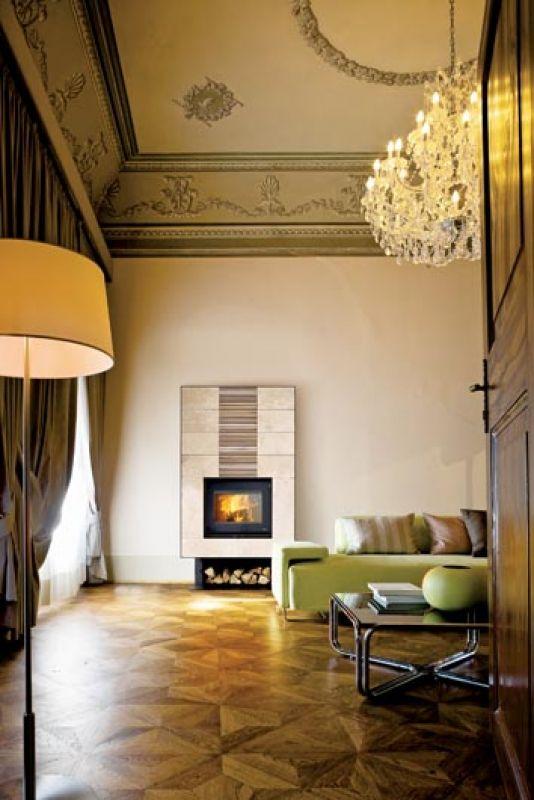 salon w pałacowym stylu