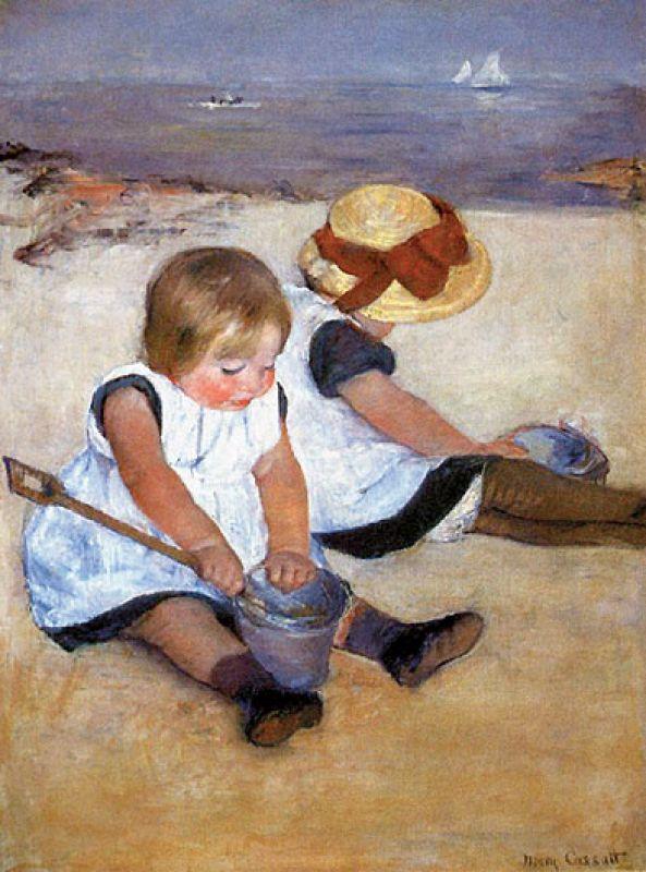 1884 r., Mary Cassatt. Dzieci na obrazach