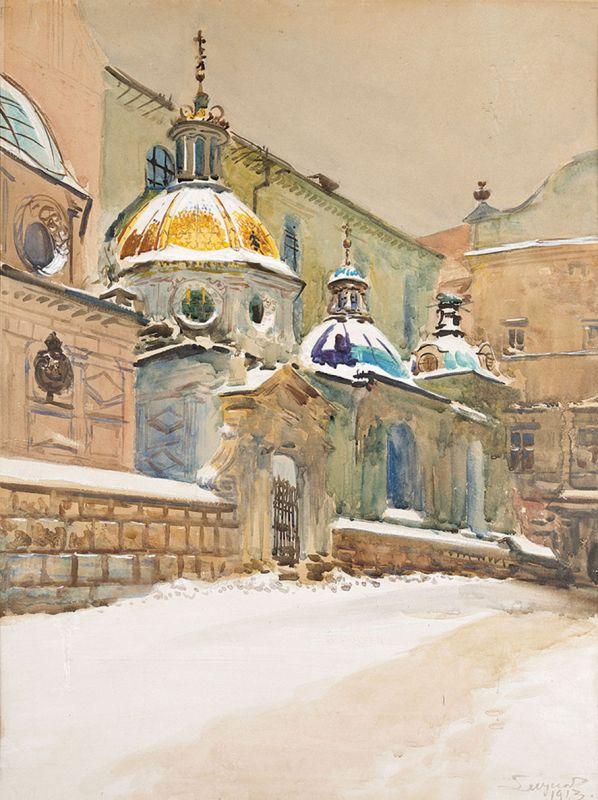 Leon Wyczółkowski: Kaplica Zygmuntowska na Wawelu, 1913 r.
