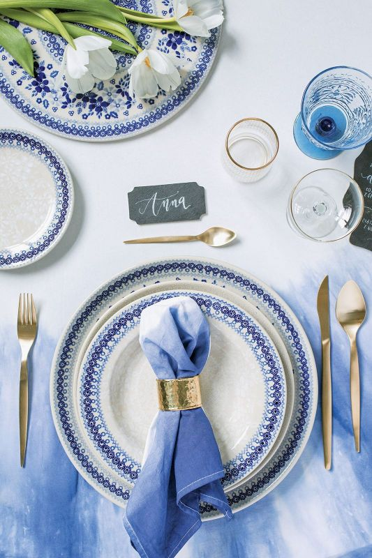 Dekoracja stołu na przyjęcie