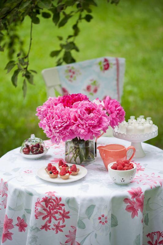 piwonia peonia dekoracje stołu