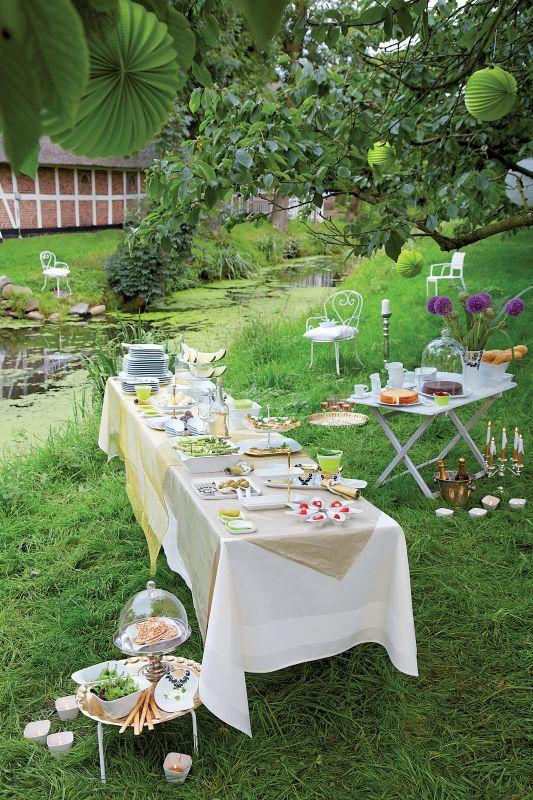 Stół w zieleni