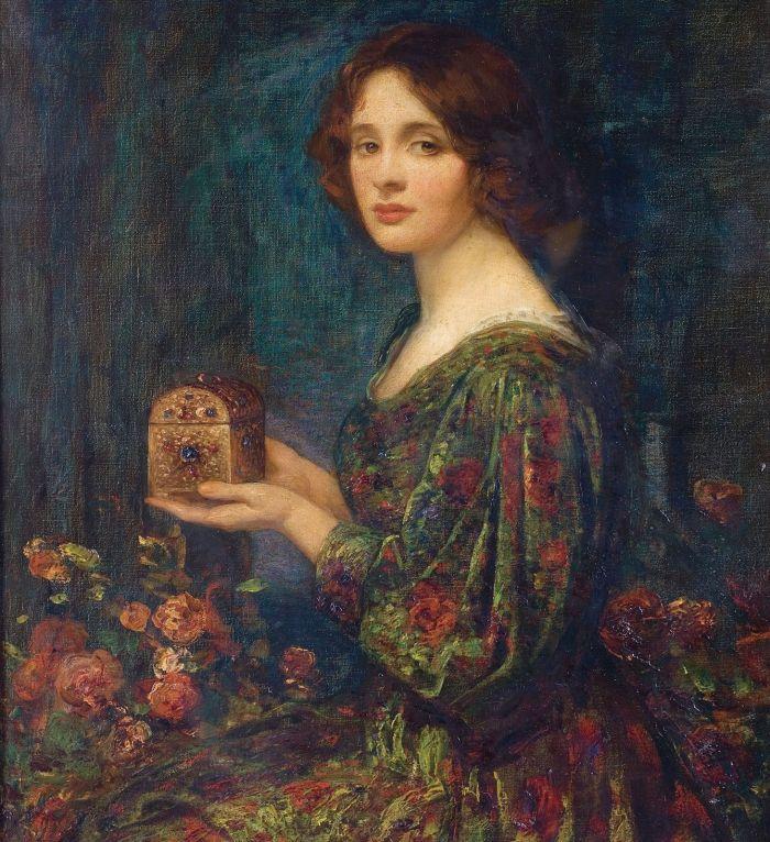 Szkatułka na biżuterię , Thomas Edwin Mostyn