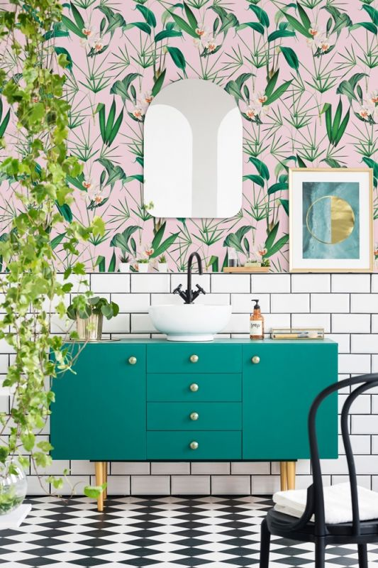 Tapety do łazienki: tapeta Palm Springs, Mindthegap, mindtheg.com