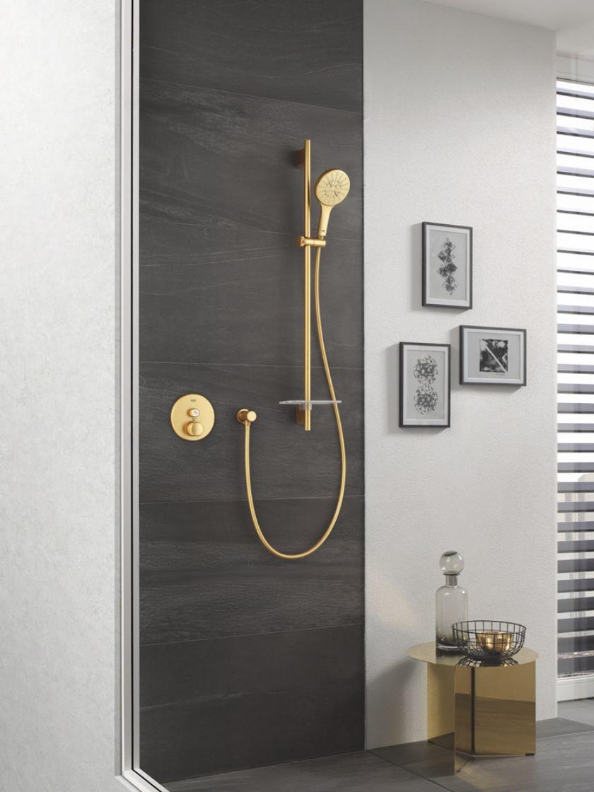złota słuchawka prysznicowa