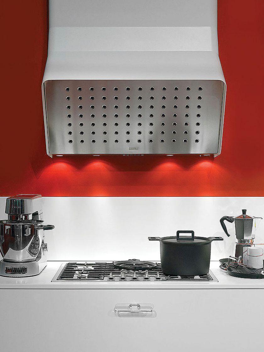 nowoczesna kuchnia kolorowa ściana