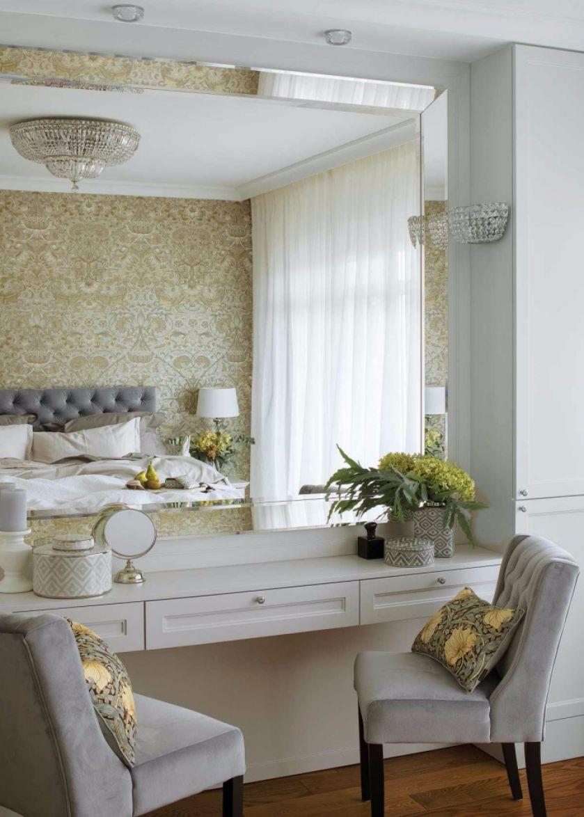 lustro w sypialni aranżacja