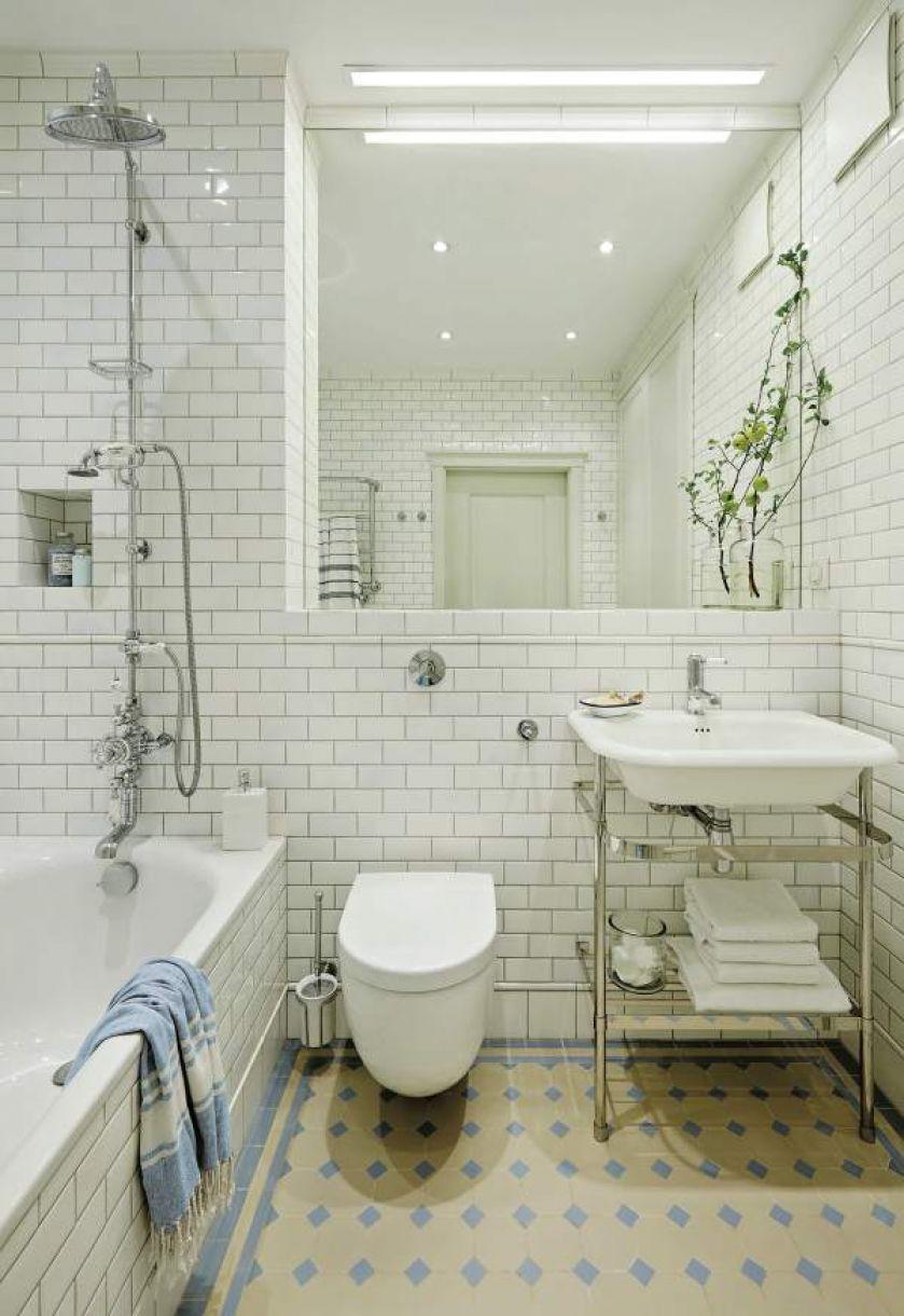 biała łazienka w  stylu vintage inspiracje